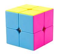Yongjun® Cubo velocidad suave 2*2*2 Velocidad Cubos Mágicos Arco iris ABS