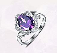 Ring Crystal Gem Luxury Jewelry Purple Jewelry Daily Casual 1pc