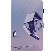 Для Бумажник для карт со стендом Флип С узором Кейс для Чехол Кейс для Мультяшная тематика Твердый Искусственная кожа для SamsungTab E