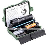 Ultrafire ZZQ-X1076G#1-US G7000 5Modes Zoomable Multifunction Flashlight Torch Kit with Battery and Charger