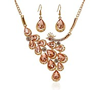 The European and American fashion peacock phoenix necklace Big exaggerated fashion necklace set # 0463