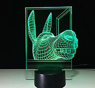 3D Creative Personality Colorful Touch Led Nightlight