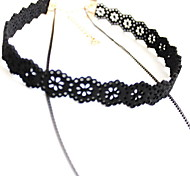 Women's Choker Necklaces Jewelry Alloy Jewelry Flower Style Fashion Personalized Euramerican Black JewelryParty Special Occasion