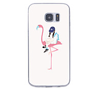 For Ultra-thin Pattern Case Back Cover Case Sexy Lady Soft TPU for Samsung Note 5 Note 4