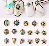 10pcs Retro Creative Design 3D Nail Art Decorations DIY Bohemia Style Nail Polish Sticker Accessories Tools