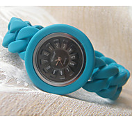 Fashion Watch Quartz Silicone Band Blue Brand