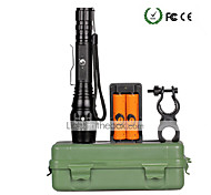 UKing ZQ-X908T6B#-EU Cree XM-L T6 2000LM 5Modes Focus Extend Flashlight Torch Kit with 2*18650 Battery and Charger Bike Holder