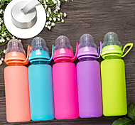 Minimalism Drinkware, 300 ml Heat-Insulated Portable Leak-proof Glass Tea Juice Water Bottle
