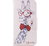For Samsung Galaxy A3(2016) A5(2017) Case Cover Long Neck Deer Pattern PU Material Painted Mobile Phone Case A3(2017) A5(2016)