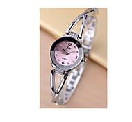 Femme Bracelet de Montre Montre Diamant Simulation Quartz / Plaqué Or Rose Acier Inoxydable Bande Argent Blanc Noir Rose
