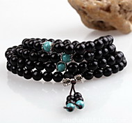 Wrap Bracelet Wood Natural Fashion Vintage Handmade Africa Jewelry Black Jewelry 1pc