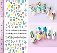1pcs Lovely Cartoon Image Design Diamond Love Heart Beautiful Flower Nail Art 3D Sticker Nail Beauty Nail Art Tips Decoration F031-040