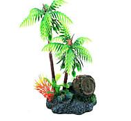 aquário simulação coqueiros forma ornamento