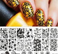родился довольно ногтей штамп штамповка шаблон инструмент изображения пластины трафарета ногти