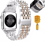 Butterfly Link Stainless Steel Strap Watch Band for Apple Watch Series 2 /1