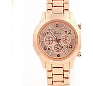 Unisex Fashion Watch Quartz Alloy Rose Gold Plated Band Casual Silver Gold Rose Gold