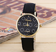 Women's Fashion Watch Quartz Leather Band Casual Black Green Rose