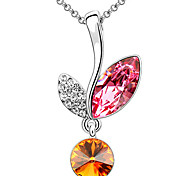 Women's Pendant Necklaces Crystal Irregular Chrome Unique Design Personalized Jewelry For Graduation Gift 1pc