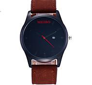 Модные часы Китайский Кварцевый PU Группа Повседневная Черный Коричневый Серый Хаки Темно-синий Черный Темно-синий Серый Коричневый Хаки