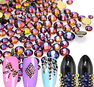 500pcs/bag New Fashion Mixed Colorful Decoration Glitter Rhinestone Beautiful Blue Flame Sparkling Rhinestone Nail Art DIY Beauty Shining Decoration