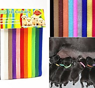 Pet ID Collars 12 Colors Whelping Puppy Kitten ID Velcro Collars Soft Adjustable Resusable Washable Easy Monitor