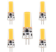 5pcs YWXLight® G4 3W COB 200-300lm Warm White Cool White Super Bright Decorative LED Bi-Pin Light (AC/DC 12-24V)