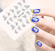10pcs/set Summer Nail Art Water Transfer Decals Beautiful Flower Design Fashion Flower Nail Art Sticker For DIY Beauty STZ-048