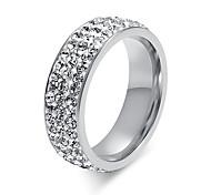 Ring Kreis Stahl Kreisform Weiß Schmuck Für Alltag 1 Stück