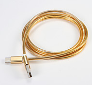 USB 2.0 Type C Portable Cable For Samsung Huawei Sony Nokia HTC Motorola LG Lenovo Xiaomi 200 cm Metal