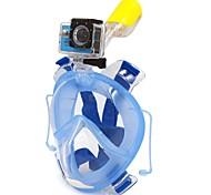 Наборы для снорклинга Маска для снорклинга Полнолицевые Подводное плавание и снорклинг С аквалангом ПВХ Пластик силиконовый-WINMAX