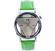 Unisex Fashion Watch Quartz Leather Band Casual Black Green Pink Black Green Blushing Pink