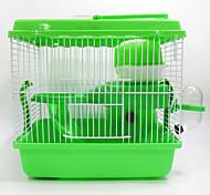 Грызуны Шиншиллы Клетки Переносной Косплей Многофункциональный Металл Пластик Кофейный Зеленый Синий Розовый