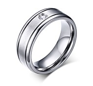 Titanium Jewelry Ring o with CZ Stone Wedding Rings wholesale