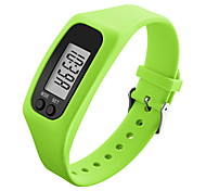 Men's Women's Sport Watch Wristwatch Digital LCD Pedometer Colorful Silicone Band Candy Color Black White Blue Green Yellow Rose Brand