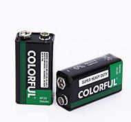 Красочная батарея 9v цинка сухих клеток 9v 10 pack