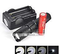 LT 5 5 Mode 2200 Lumens LED Flashlights 18650 Waterproof