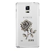 Para Transparente Diseños Funda Cubierta Trasera Funda Flor Suave TPU para Samsung Note 5 Note 4 Note 3 Note 2
