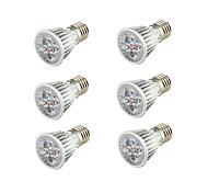 5W E26/E27 Spot LED B 5 COB 450 lm Blanc Chaud Décorative AC 85-265 V 6 pièces
