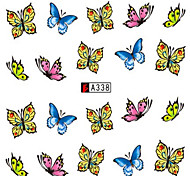 10pcs/set Colorful Butterfly Design Lovely Nail Art Sticker Beautiful Nail Water Transfer Decals Nail Beauty Design A338