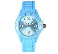 Women's Fashion Watch Quartz Silicone Band Casual Red Green Pink