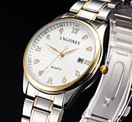 Men's Waterproof Gold Watch Between Calendar Quartz Watch
