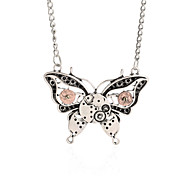 Vintage Animal Pendant Necklace Gear Charm Steampunk Necklaces-Gear Butterfly