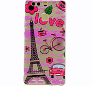 For Huawei Mate 9 P9 Eiffel Tower Pattern Soft TPU Material Phone Case for P9 Lite Honor 5C