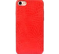 For Apple iPhone 7 7 Plus 6S 6 Plus Case Cover Crocodile Striae Pattern PC Material PU Paste Skin Combo Scrub Phone Case