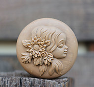 Girl's Hair With Flowers Shape Soap Mold DIY Silicone Soap Mold Handmade Soap Salt Carved DIY Silicone Food Grade Silicone Mold