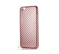 Для Покрытие Кейс для Задняя крышка Кейс для Полосы / волосы Мягкий TPU для AppleiPhone 7 Plus iPhone 7 iPhone 6s Plus iPhone 6 Plus