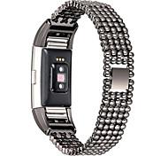 для умных часов Fitbit заряда 2 роскошного стиль стального шарика замены полосы моды женщин женского браслет браслет