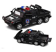 Police car Pull Back Vehicles Car Toys 1:32 Metal Plastic Black Model & Building Toy
