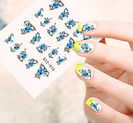 5pcs/set Fashion Sweet Style Beautiful Nail Art DIY Sticker Beautiful Butterfly Design Sweet Nail Water Transfer Decals STZ-015