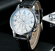 Men's Classic Fashion Upscale Blue Glass Eye Dial Quartz Watch